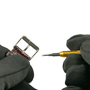 Tutoriel montre : Réparation montre : Retirer le fermoir de montre du bracelet : image 1