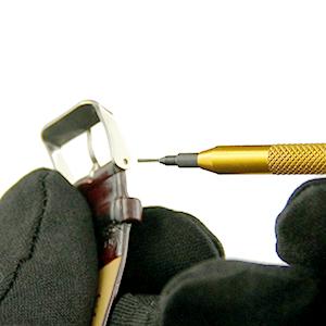 Tutoriel montre : Réparation montre : Retirer le fermoir de montre du bracelet : image 2