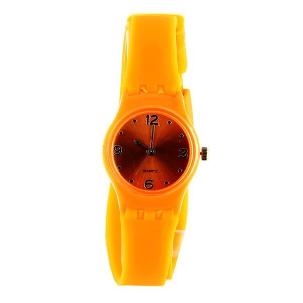 Vente acheter montre fantaisie femme pas ch re orange - Credence originale pas chere ...