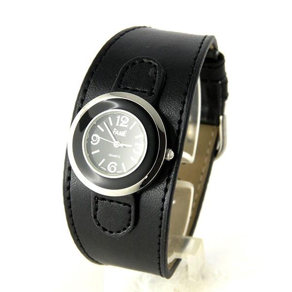 Bracelet de force cuir noir femme