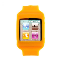 Bracelet montre silicone iPod nano 6 orange