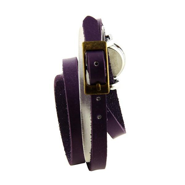 double tour violet montre femme pas ch re bracelet. Black Bedroom Furniture Sets. Home Design Ideas