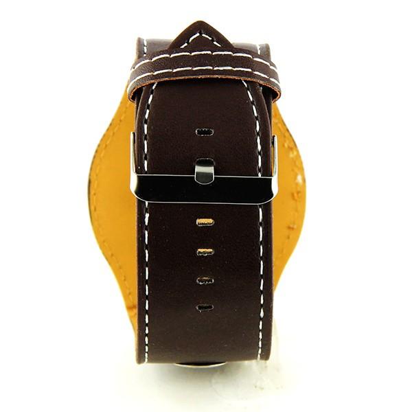 grosse montre womage pas ch re homme brun vintage bo tier. Black Bedroom Furniture Sets. Home Design Ideas