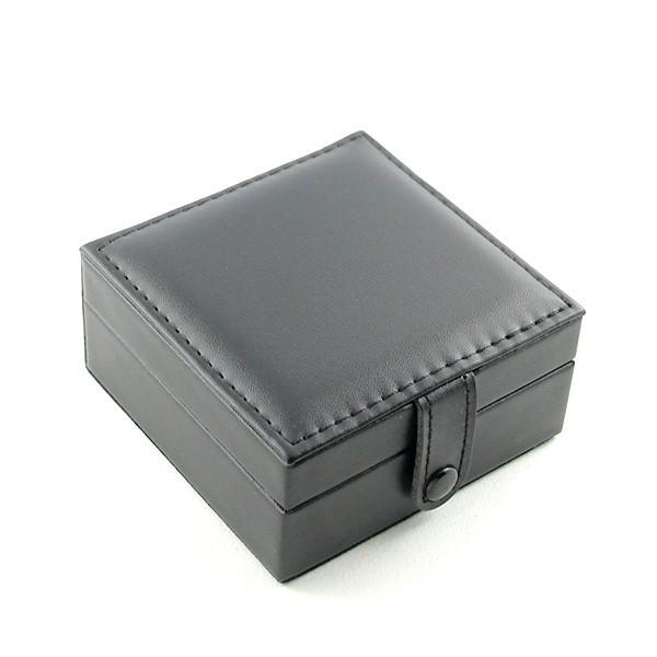 Favori cuir noir pour montre à gousset rangement chaine IQ34