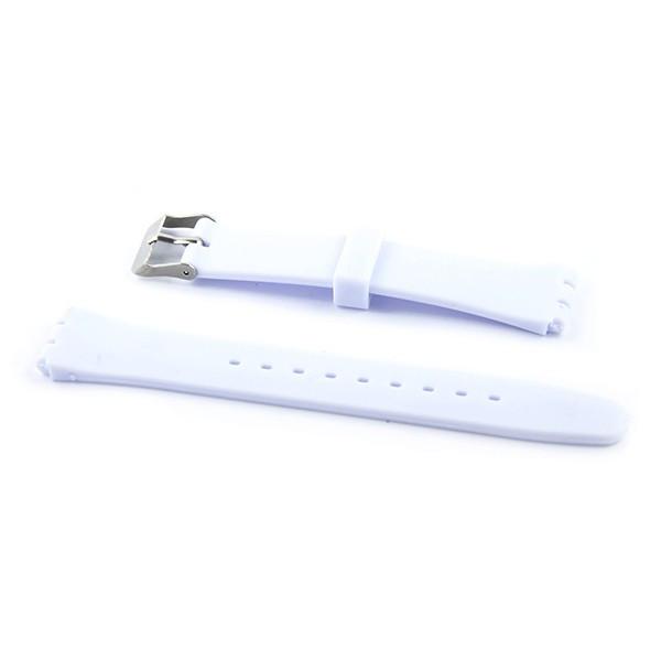 Bracelet pas cher pour montre swatch 17 mm silicone blanc for Porte bracelet pas cher