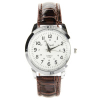 Montre mode unisexe bracelet cuir pu marron