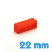 Loop Silicone Orange 22 mm pour montre