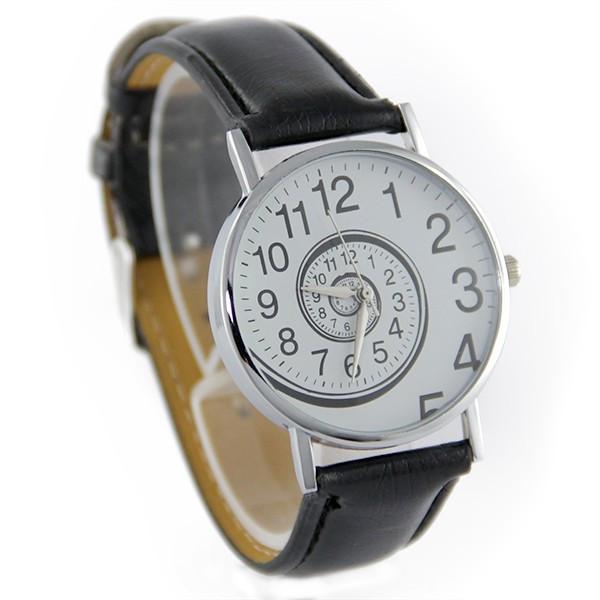montre femme pas cher tourbillon originale bracelet cuir synth tique noir. Black Bedroom Furniture Sets. Home Design Ideas