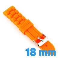 Bracelet silicone montre pas cher orange 1,8 cm