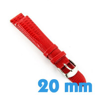 Bracelet montre aspect croco 20 mm