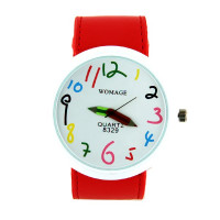 Montre rouge femme crayons marque WOMAGE