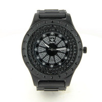 Montre hip-hop KingStar rap noir hip-hop bracelet silicone plastique