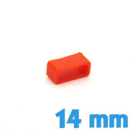 Passant Silicone Orange 14 mm montre