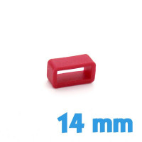Loop Silicone Rouge 14 mm de bracelet