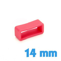 Passant montre Silicone 14 mm  - Rouge