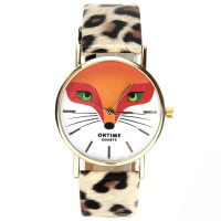 Montre bracelet léopard illustration renard