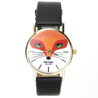 Montre renard roux animal bracelet simili