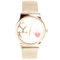 Montre femme maille milanaise or rose
