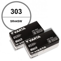 Pack de 20 Batteries 1.55 V 303 Varta alcaline montre