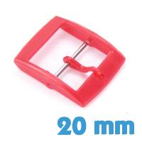 Fermoir 20 mm rouge plastique ardillon