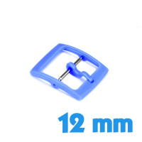 Attache bleu 12 mm plastique ardillon