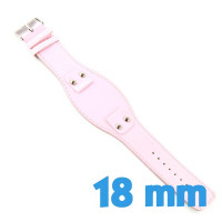 Bracelet ardillon de force rose