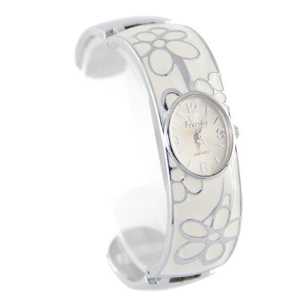 2df359fc9a48c Montre bijou femme bracelet argenté clip de marque OMAX