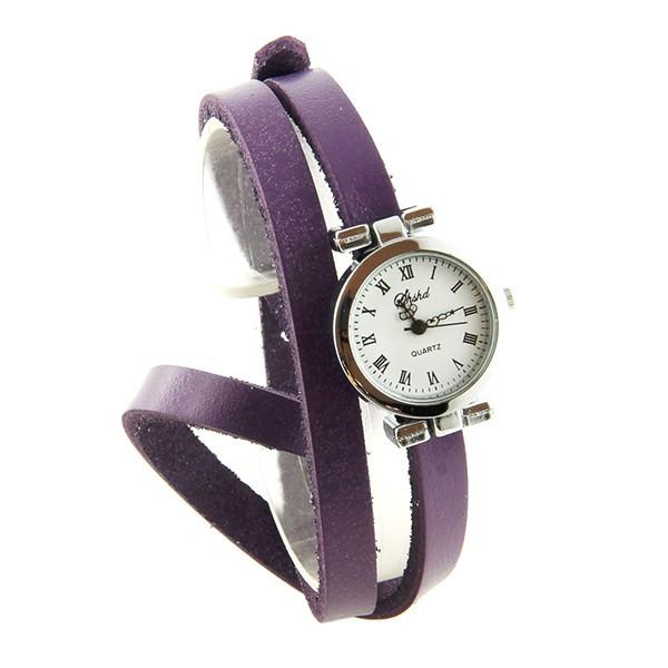 en présentant ordre en gros Double tour violet montre femme pas chère bracelet