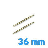 Lot de 2 barres ressorts montre 36 mm