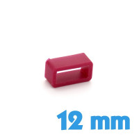 Passant montre Silicone Rouge 12 mm