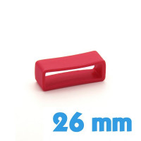 Loop de montre Silicone Rouge 26 mm