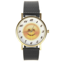 Montre Smiley timide joues rouges