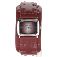 Bracelet de force cuir montre rouge