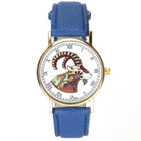Montre animal couleur bleu