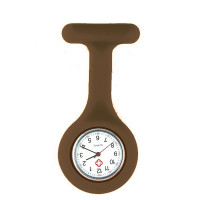 Montre de blouse marron hopital silicone