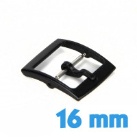 16 mm Attache ardillon noir plastique