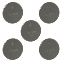 Lot de 5 Piles CR1620 3 V lithium pour montre