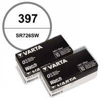 Lot de 20 Batteries de montre 397 alcaline 1,55 V Varta