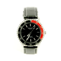 Montre homme cuir marque omax couronne rotative